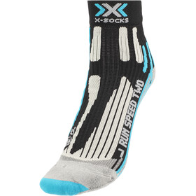 X-Socks Run Speed Two Calcetines Mujer, black/turquoise